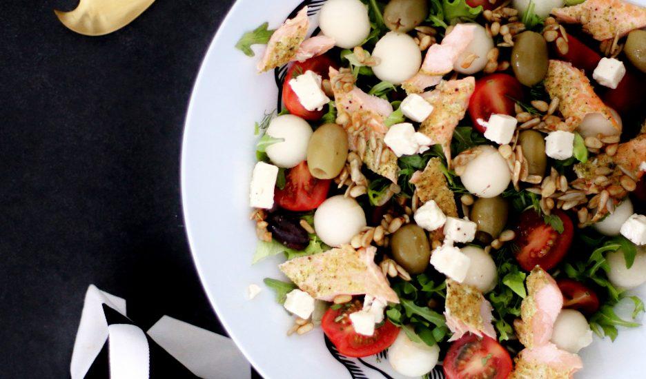 Ferskt salat með Bleikju